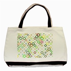 Square Colorful Geometric Style Basic Tote Bag