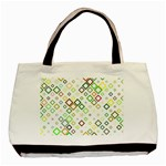 Square Colorful Geometric Style Basic Tote Bag Front