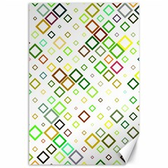Square Colorful Geometric Style Canvas 12  X 18