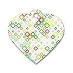 Square Colorful Geometric Style Dog Tag Heart (Two Sides) Back