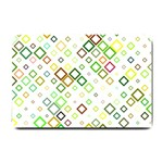 Square Colorful Geometric Style Small Doormat  24 x16  Door Mat