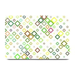 Square Colorful Geometric Style Plate Mats