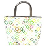 Square Colorful Geometric Style Bucket Bag Front