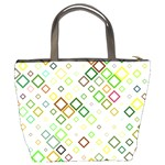 Square Colorful Geometric Style Bucket Bag Back