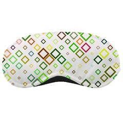 Square Colorful Geometric Style Sleeping Masks
