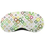 Square Colorful Geometric Style Sleeping Masks Front