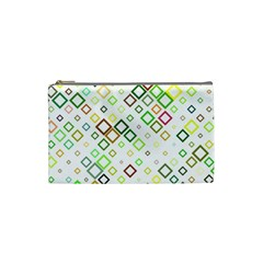 Square Colorful Geometric Style Cosmetic Bag (small)
