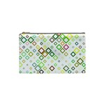 Square Colorful Geometric Style Cosmetic Bag (Small) Front
