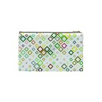 Square Colorful Geometric Style Cosmetic Bag (Small) Back