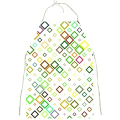 Square Colorful Geometric Style Full Print Aprons