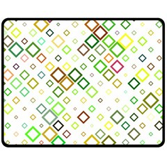 Square Colorful Geometric Style Fleece Blanket (medium)