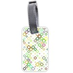 Square Colorful Geometric Style Luggage Tags (Two Sides) Front