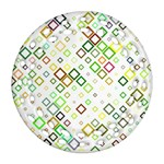 Square Colorful Geometric Style Ornament (Round Filigree) Front