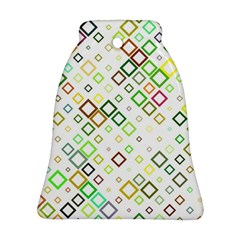 Square Colorful Geometric Style Bell Ornament (two Sides)