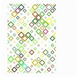 Square Colorful Geometric Style Large Garden Flag (Two Sides) Back