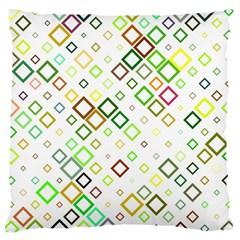 Square Colorful Geometric Style Large Cushion Case (two Sides)