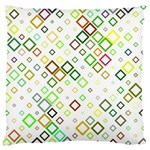 Square Colorful Geometric Style Large Cushion Case (Two Sides) Back