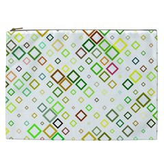Square Colorful Geometric Style Cosmetic Bag (xxl)