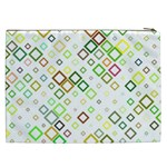 Square Colorful Geometric Style Cosmetic Bag (XXL) Back