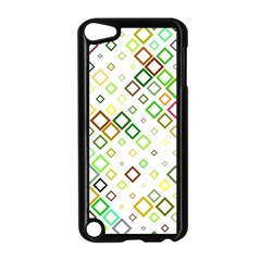 Square Colorful Geometric Style Apple Ipod Touch 5 Case (black)
