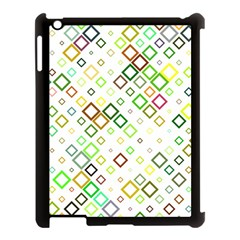 Square Colorful Geometric Style Apple Ipad 3/4 Case (black) by Alisyart