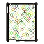 Square Colorful Geometric Style Apple iPad 3/4 Case (Black) Front