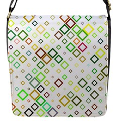 Square Colorful Geometric Style Flap Closure Messenger Bag (s)