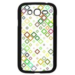 Square Colorful Geometric Style Samsung Galaxy Grand DUOS I9082 Case (Black) Front