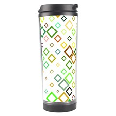 Square Colorful Geometric Style Travel Tumbler