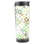 Square Colorful Geometric Style Travel Tumbler Left