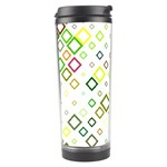 Square Colorful Geometric Style Travel Tumbler Right