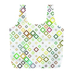Square Colorful Geometric Style Full Print Recycle Bag (l)