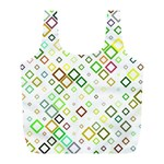 Square Colorful Geometric Style Full Print Recycle Bag (L) Back