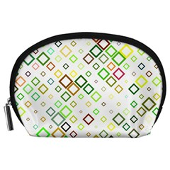 Square Colorful Geometric Style Accessory Pouch (large)