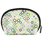 Square Colorful Geometric Style Accessory Pouch (Large) Back