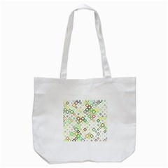 Square Colorful Geometric Style Tote Bag (white)