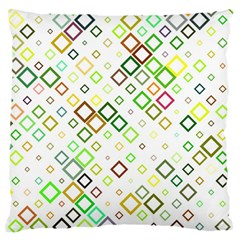 Square Colorful Geometric Style Large Flano Cushion Case (one Side)