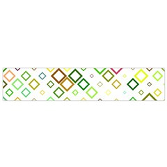 Square Colorful Geometric Style Small Flano Scarf
