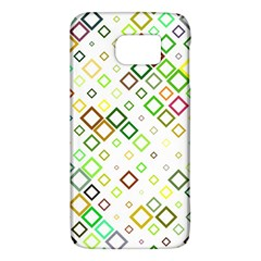 Square Colorful Geometric Style Samsung Galaxy S6 Hardshell Case