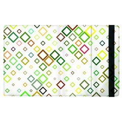 Square Colorful Geometric Style Apple Ipad Pro 9 7   Flip Case