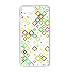Square Colorful Geometric Style Apple Iphone 7 Plus Seamless Case (white)