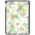 Square Colorful Geometric Style Apple iPad Pro 9.7   Black Seamless Case Front
