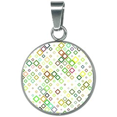Square Colorful Geometric Style 20mm Round Necklace