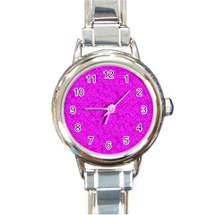 Triangle Pattern Seamless Color Round Italian Charm Watch
