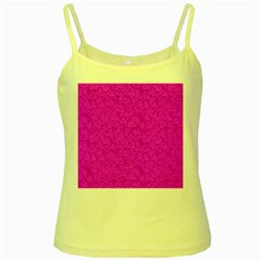 Triangle Pattern Seamless Color Yellow Spaghetti Tank