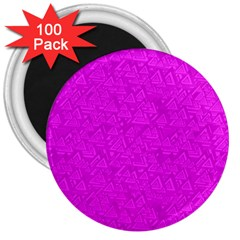 Triangle Pattern Seamless Color 3  Magnets (100 Pack)