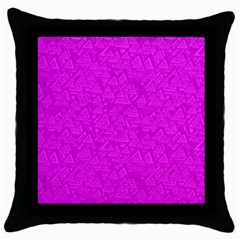 Triangle Pattern Seamless Color Throw Pillow Case (black)