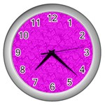 Triangle Pattern Seamless Color Wall Clock (Silver) Front