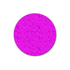 Triangle Pattern Seamless Color Magnet 3  (round)