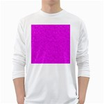 Triangle Pattern Seamless Color Long Sleeve T-Shirt Front